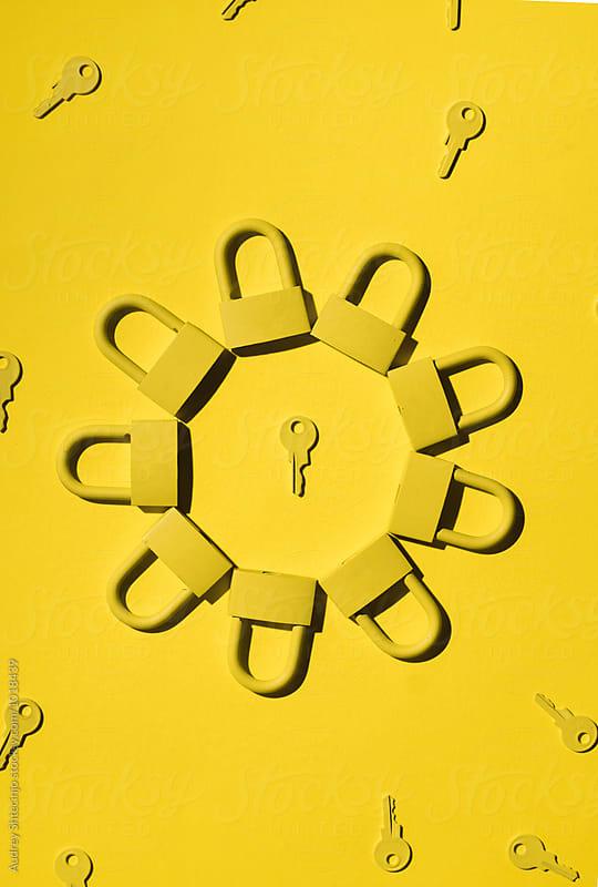 Keys and locks. yellow/yellow by Audrey Shtecinjo for Stocksy United