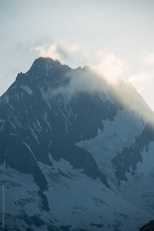 Lauteraarhorn mountain peak  by Peter Wey for Stocksy United