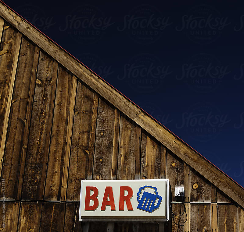 wyoming bar sign by otto schulze for Stocksy United