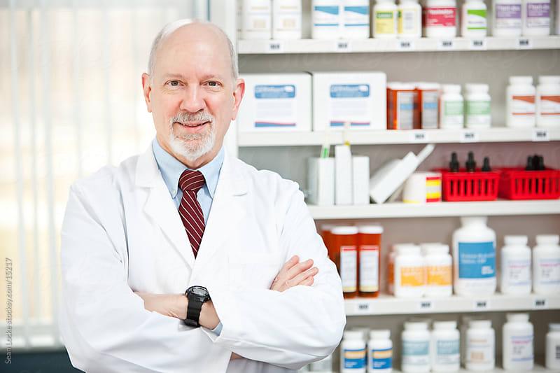 Pharmacy: Senior Pharmacist Ready to Help by Sean Locke for Stocksy United