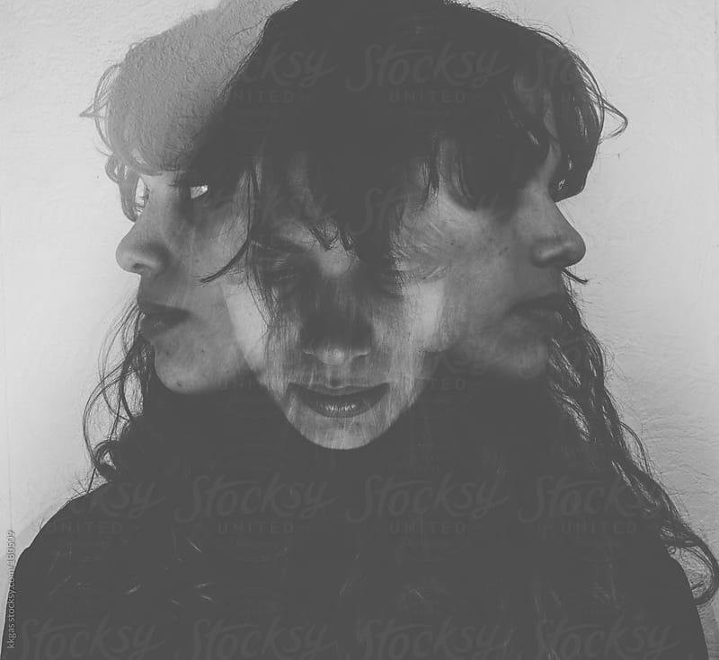 Multiple exposure portrait of a woman. by kkgas for Stocksy United