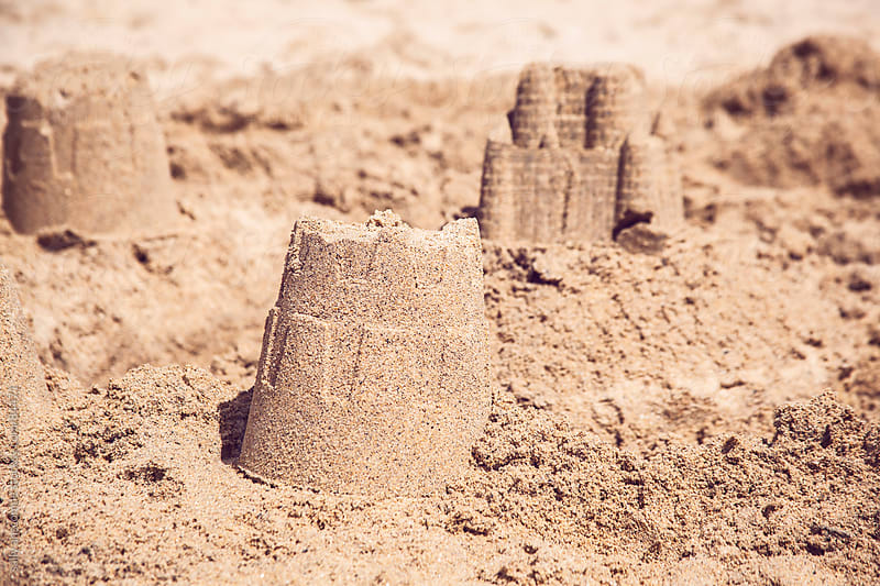 Sandcastles by sally anscombe for Stocksy United