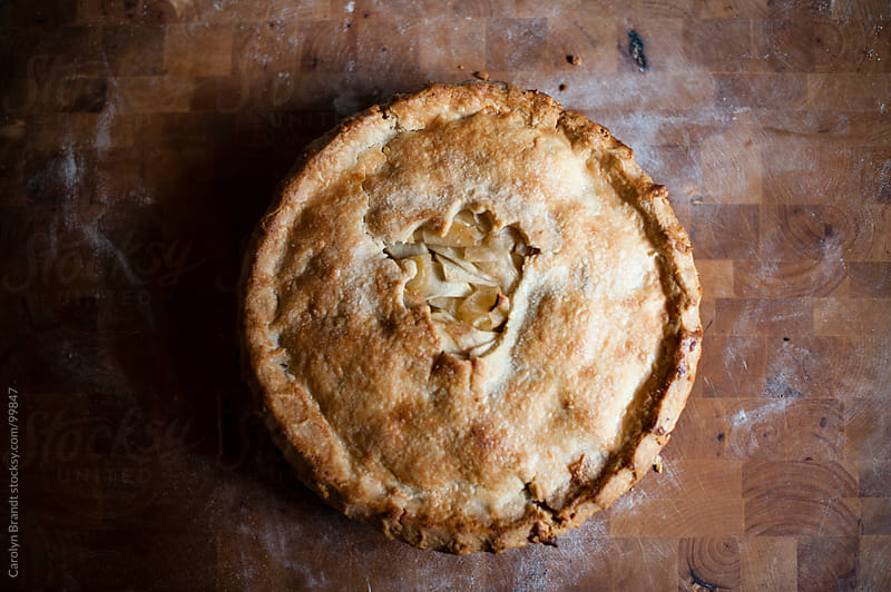 apple pie for thanksgiving  by Carolyn Brandt for Stocksy United