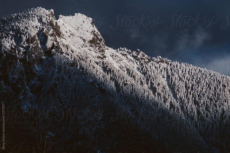 Snowy Mountain Peak by Benj Haisch for Stocksy United