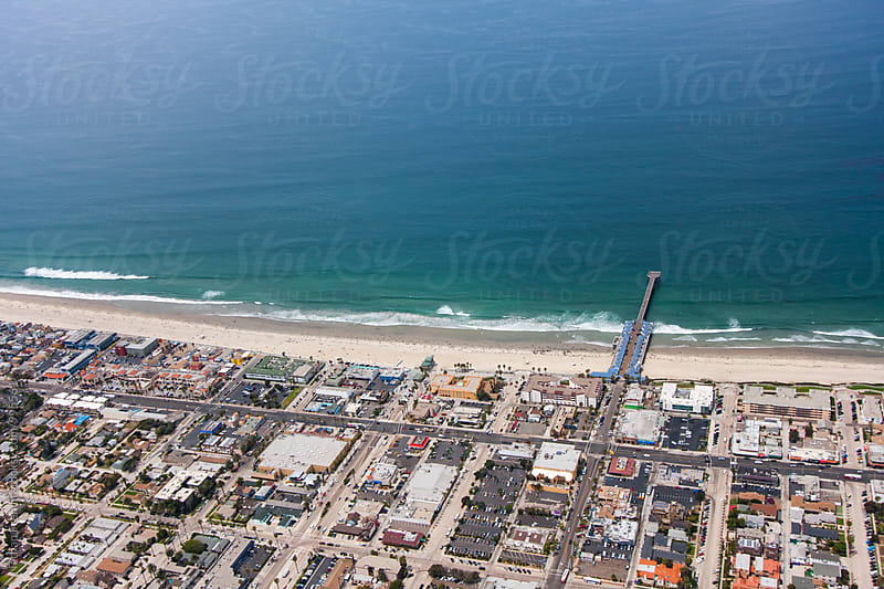 Pacific Beach From Above by Nathan French for Stocksy United