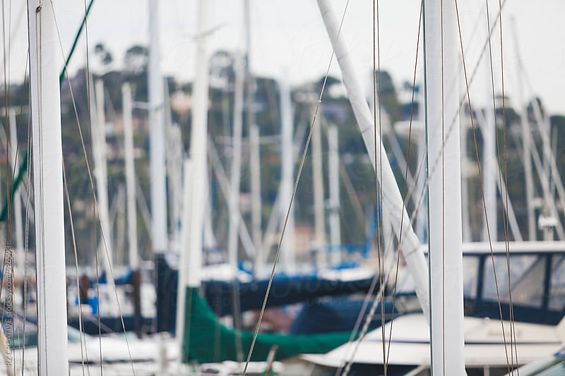 Boats docked in a harbor. by RZ CREATIVE for Stocksy United