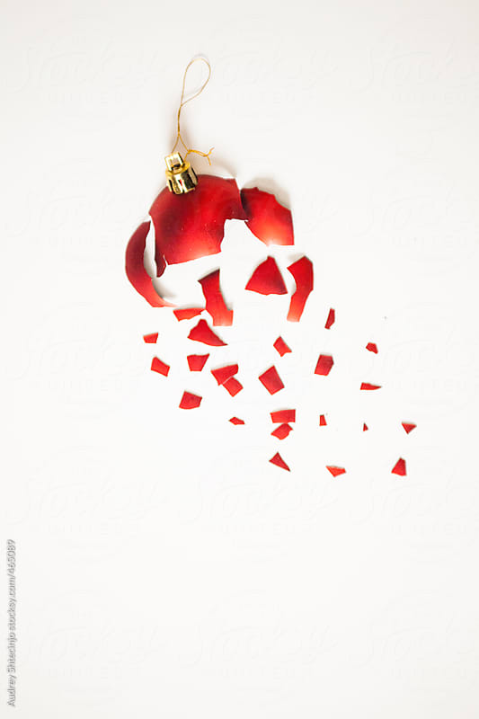 Christmas ornament exploded. by Audrey Shtecinjo for Stocksy United