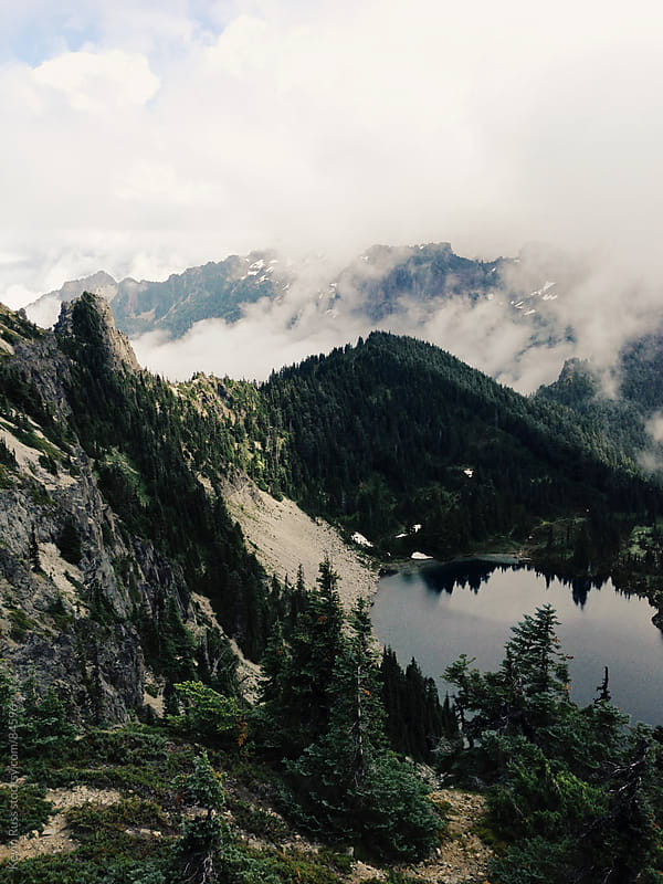 Mountain Lake Landscape by Kevin Russ for Stocksy United