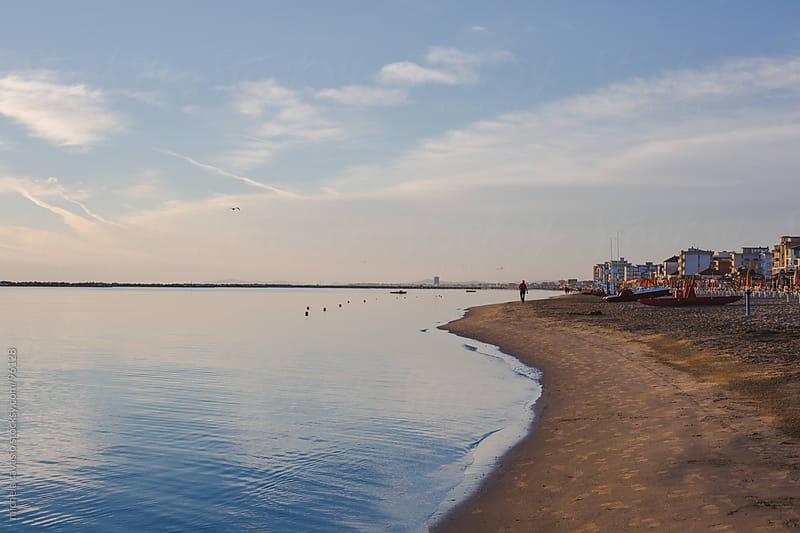 Beach at sunrise by michela ravasio for Stocksy United