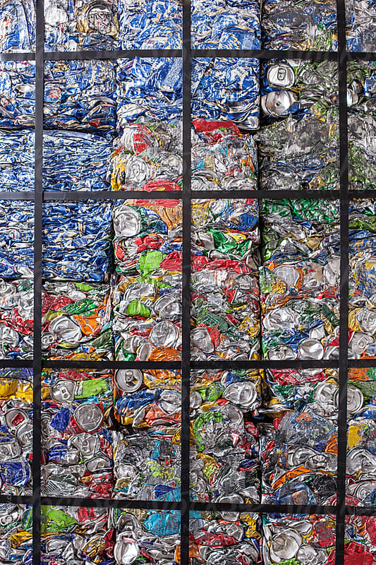 Packed and Crushed Garbage Ready for Recycling by Mosuno for Stocksy United