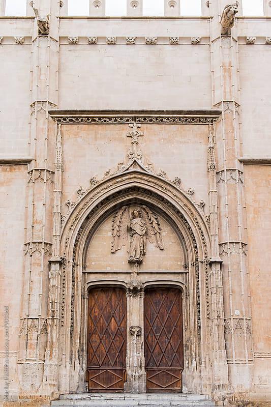 Entrance portal of La Lonja monument in Palma de Mallorca by Marilar Irastorza for Stocksy United