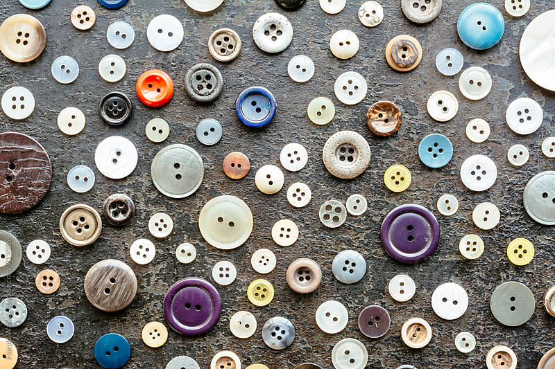 Variation of old buttons by Harald Walker for Stocksy United