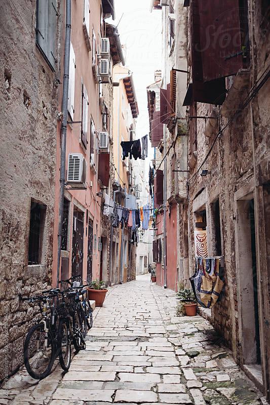 Alley in Rovinj by Robert Kohlhuber for Stocksy United