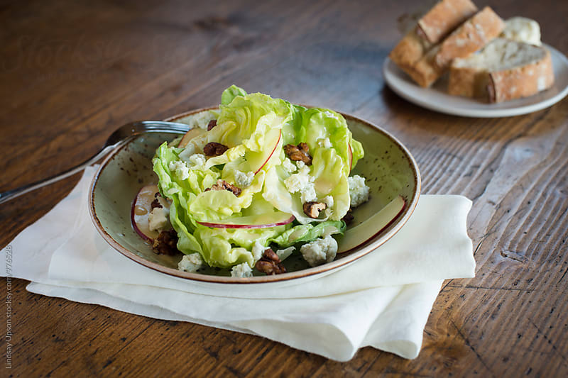 Butter Lettuce Salad by Lindsay Upson for Stocksy United