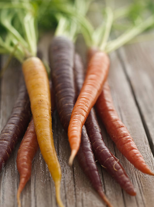 Multi-colored carrots by Daniel Hurst for Stocksy United