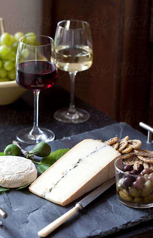 wine and cheese by Susan Findlay for Stocksy United
