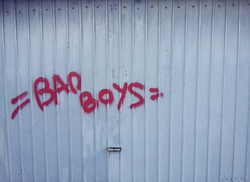 Bad boys graffiti by Hamza Kulenović for Stocksy United
