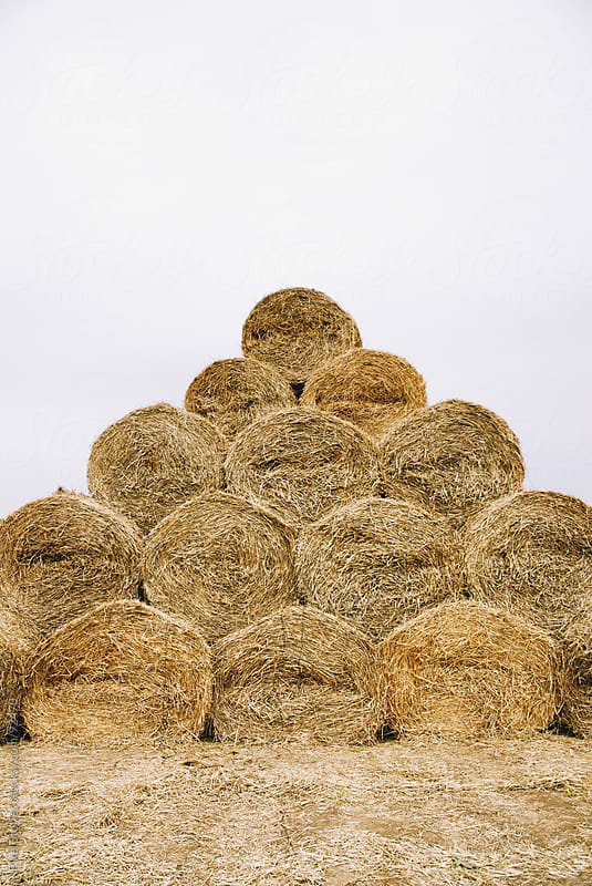 Hay bales by Pixel Stories for Stocksy United
