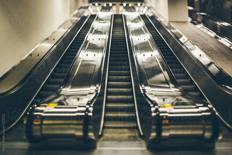 Escalators by Good Vibrations Images for Stocksy United