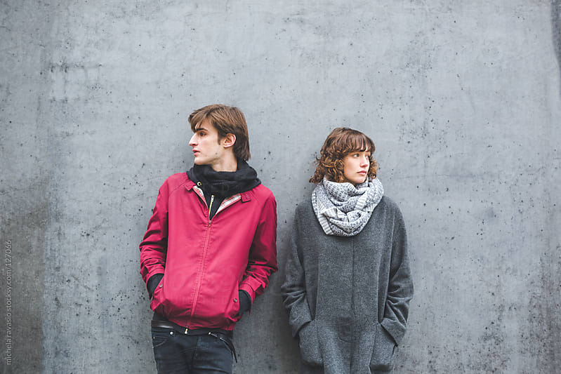 Portrait of a young couple by michela ravasio for Stocksy United