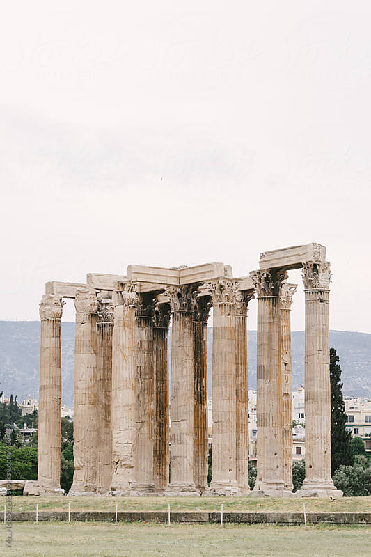 Greece, Athens, Temple of Olympian Zeus by Maa Hoo for Stocksy United