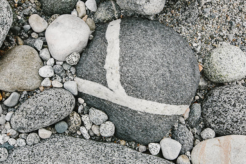 y-shaped intrusion in rock by Cameron Zegers for Stocksy United