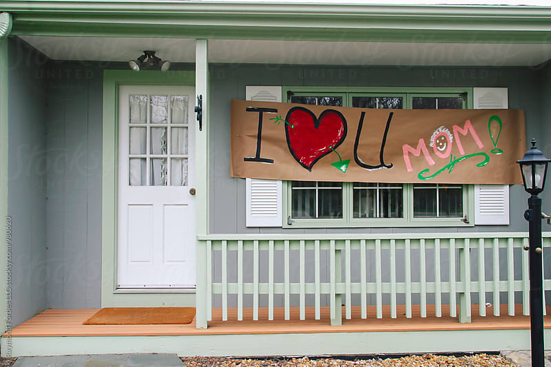 Mother's Day Sign on Home by Raymond Forbes LLC for Stocksy United