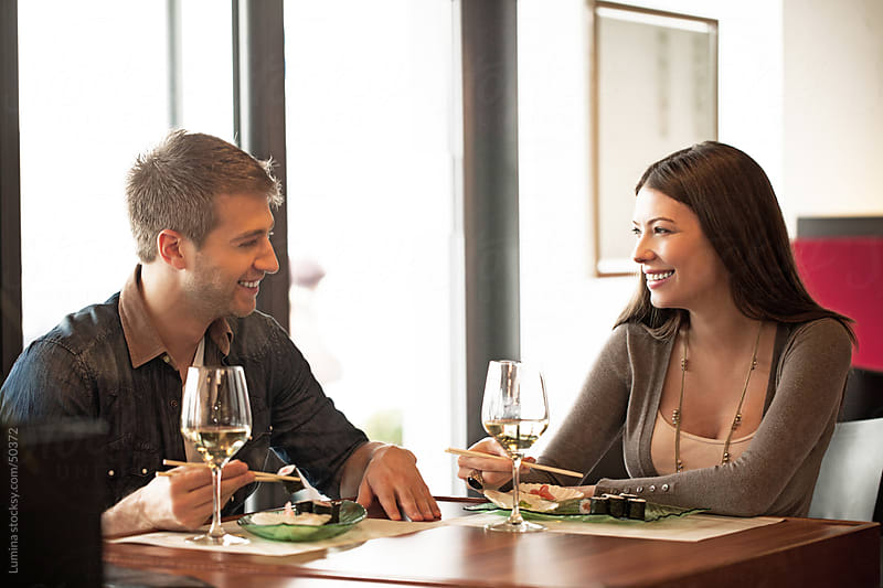 Couple at a Restaurant by Lumina for Stocksy United