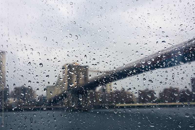Brooklyn Bridge during a Rainy Day by Good Vibrations Images for Stocksy United