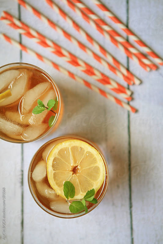 Fresh Brewed Iced Tea With Lemon and Mint by ALICIA BOCK for Stocksy United