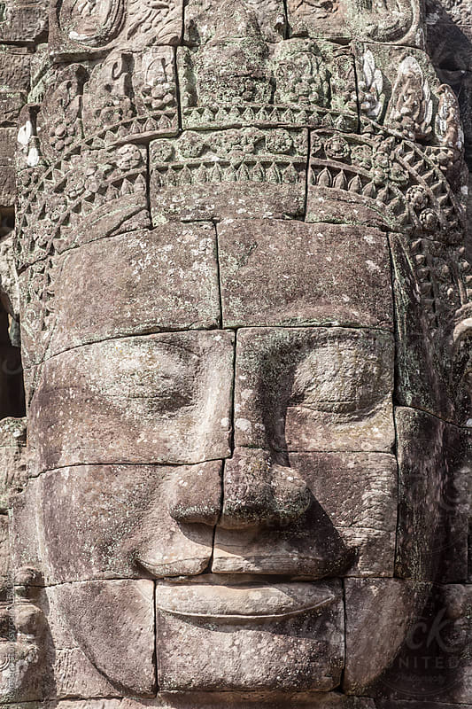 Ancient Face Sculpture of Angkor Wat by Mosuno for Stocksy United
