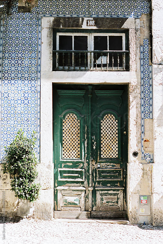 Doorway in Lisbon by Sam Burton for Stocksy United