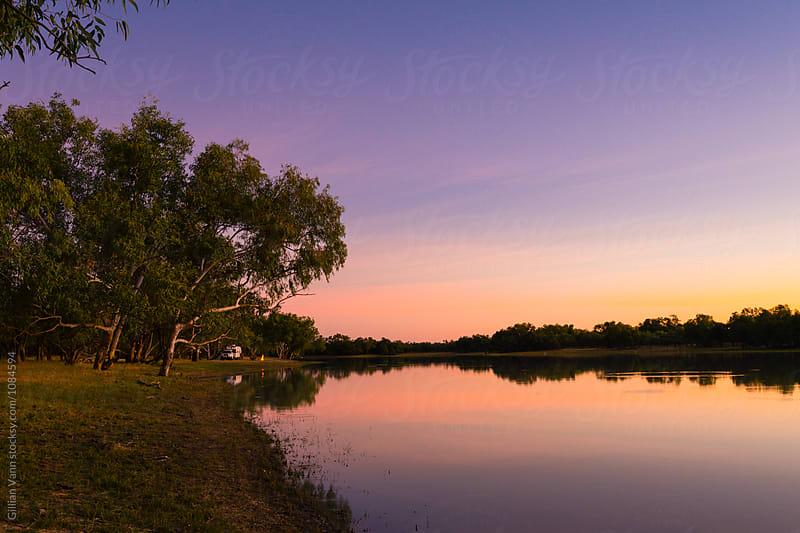 sunset on the billabong by Gillian Vann for Stocksy United