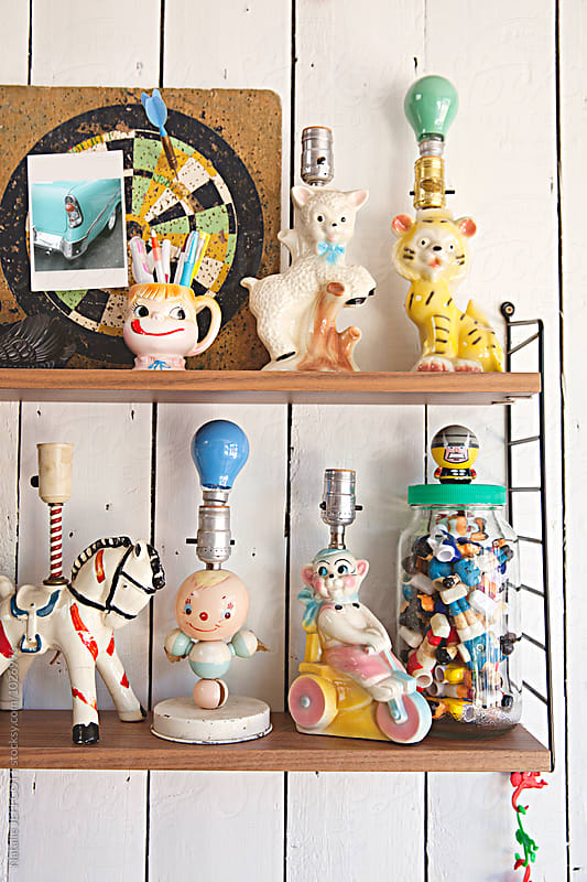 Collection of vintage children's night lights / lamps by Natalie JEFFCOTT for Stocksy United