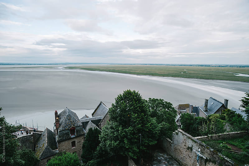 Mont Saint-Michel town by GIC for Stocksy United