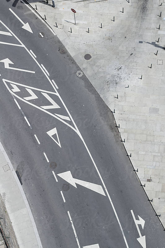 Aerial view of a city road by Luca Pierro for Stocksy United
