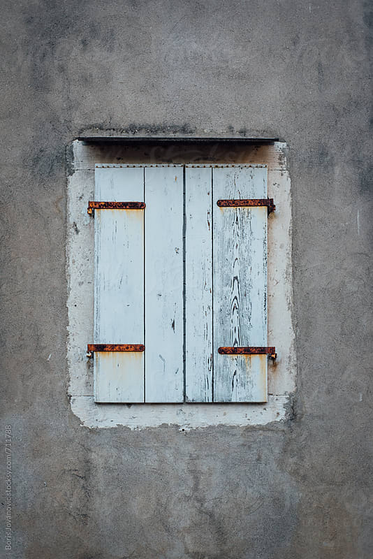 Old wooden window persiennes by Boris Jovanovic for Stocksy United