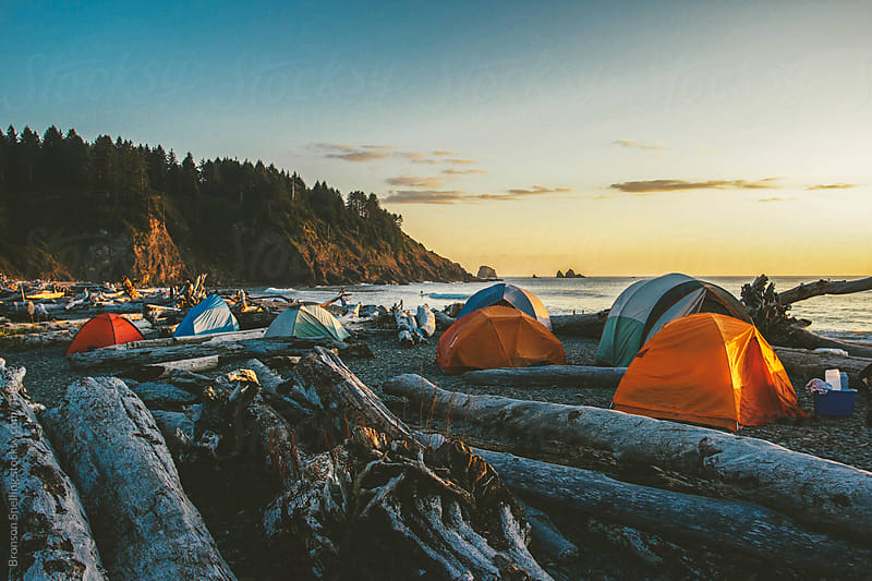 Beach Camp by Bronson Snelling for Stocksy United