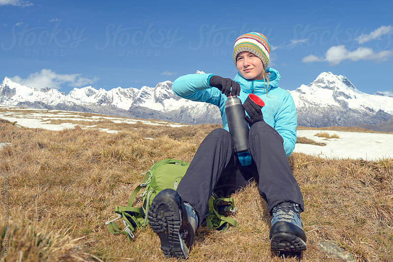 Hiker resting  by RG&B Images for Stocksy United