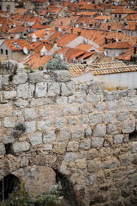 Remains of an old wall in the old city, Dubrovnik, Croatia. by Thomas Pickard for Stocksy United