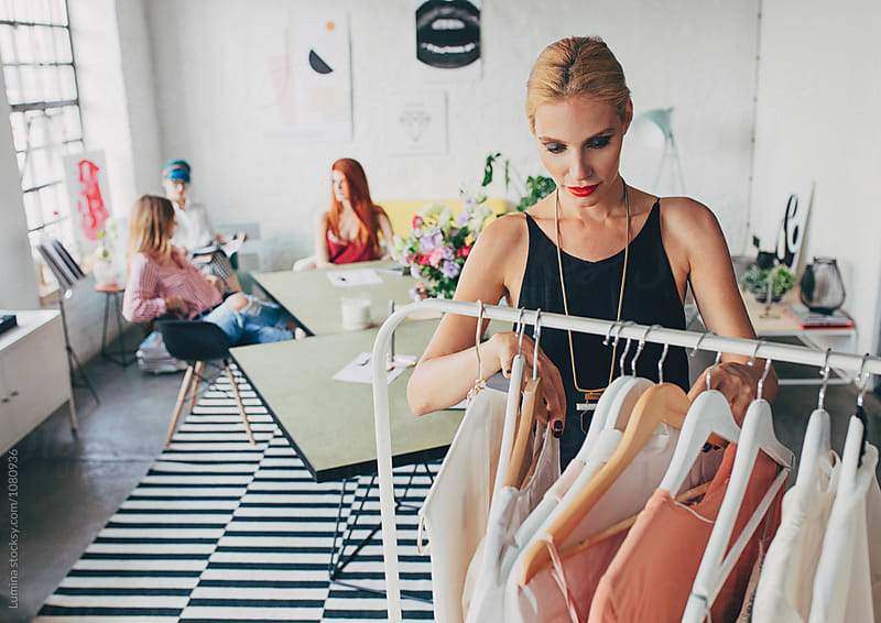 Women Working in Fashion Studio by Lumina for Stocksy United