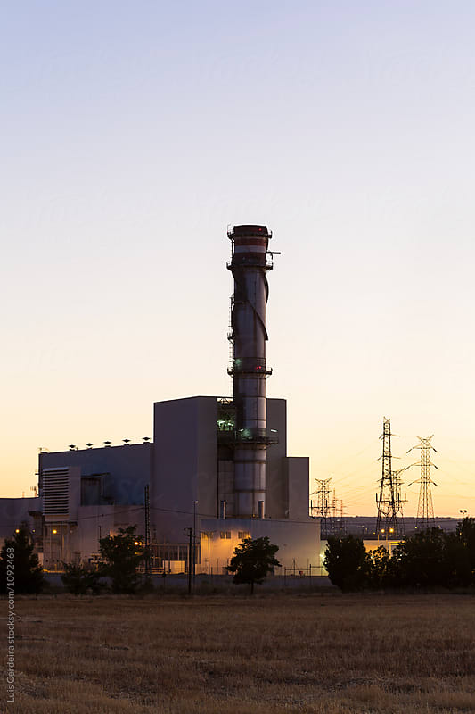 Thermal power plant by Luis Cerdeira for Stocksy United