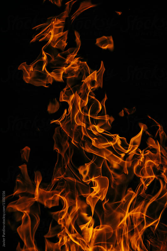 Detail of a flames by Javier Pardina for Stocksy United