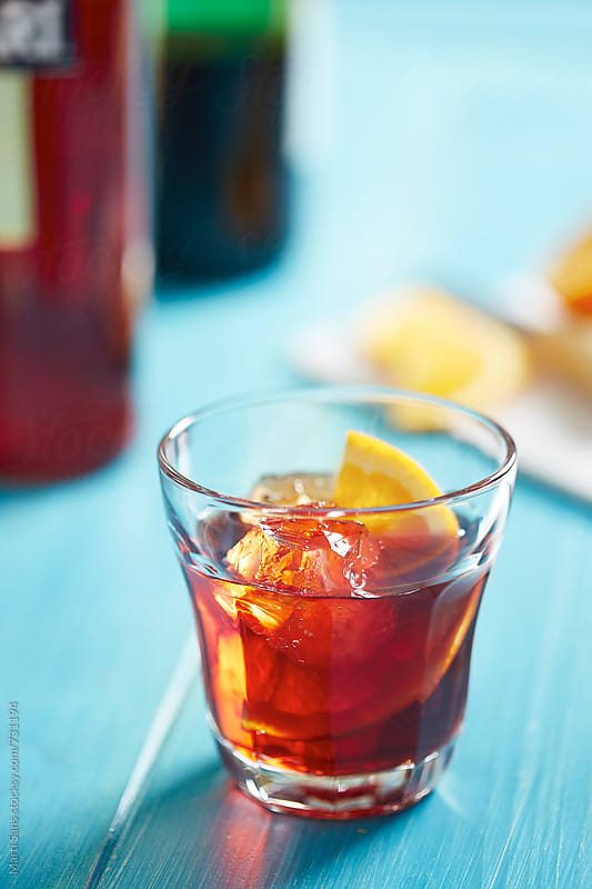 Negroni cocktail by Martí Sans for Stocksy United
