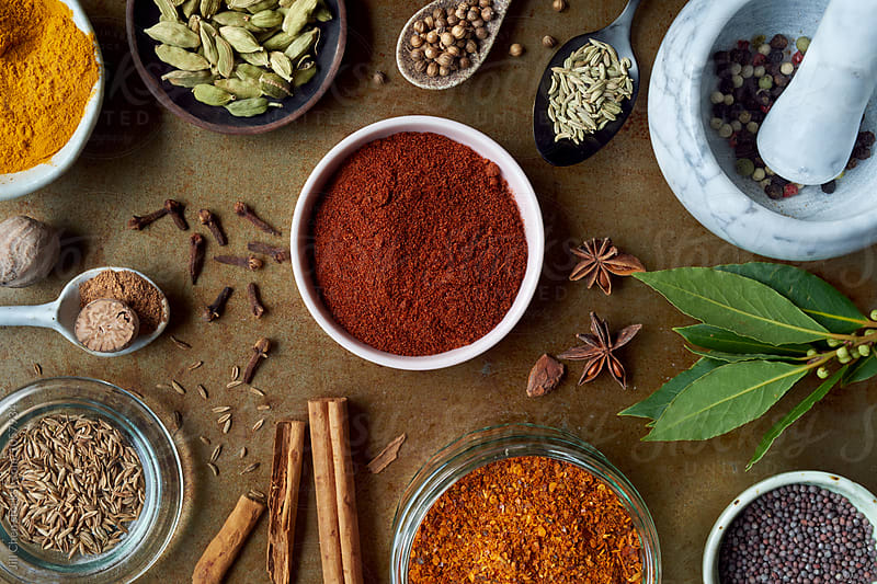Different spices to have in the pantry by Jill Chen for Stocksy United