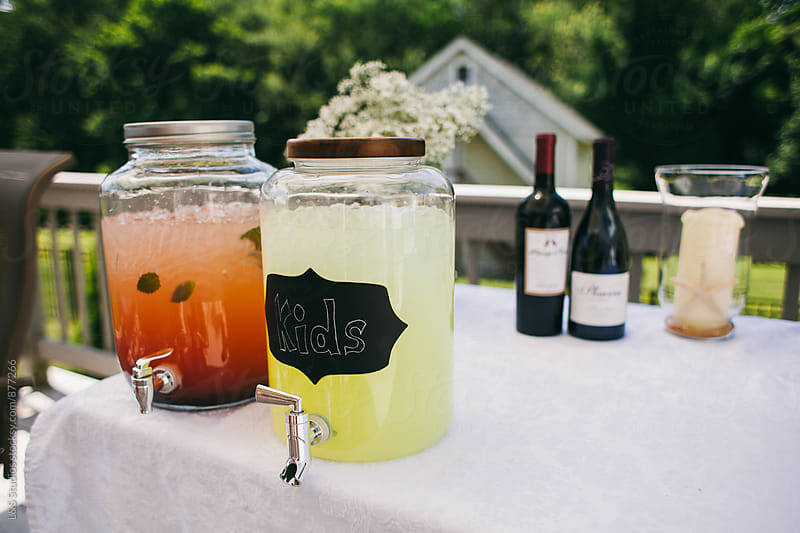 Refreshments at a summer party by L&S Studios for Stocksy United