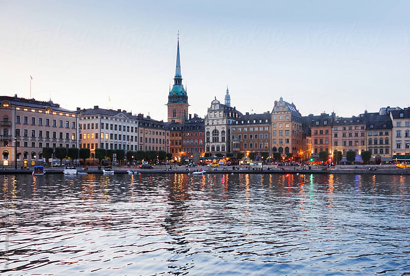 Evening view over Stockholm Gamla Stan by Per Swantesson for Stocksy United