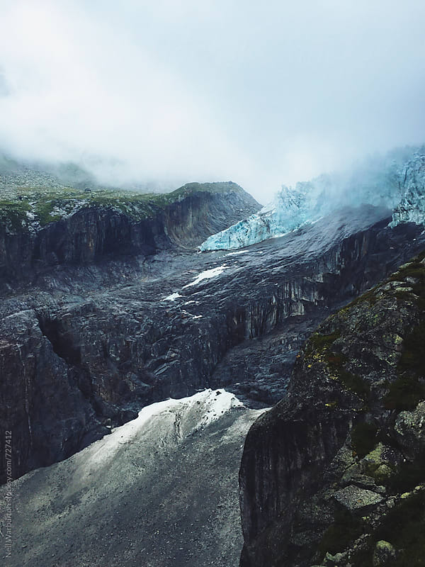Retreating alpine glacier by Neil Warburton for Stocksy United