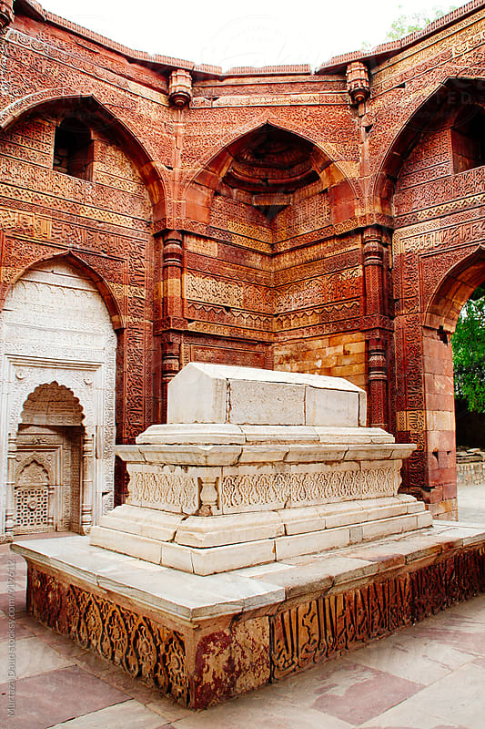 A tomb in Dehli, India by Murtaza Daud for Stocksy United