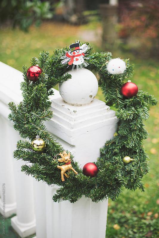 Christmas wreath by Jovana Rikalo for Stocksy United